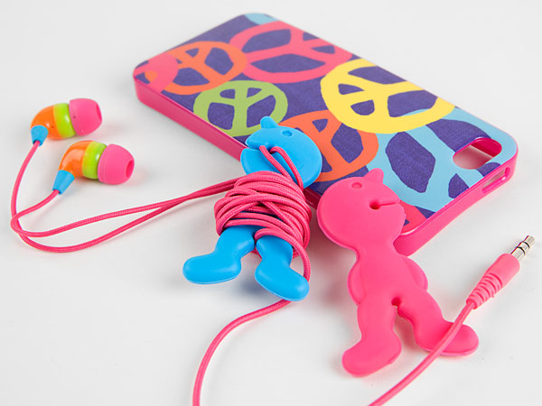 Fun cord keepers in the shapes of little men